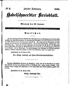 Habelschwerdter Kreisblatt vom 17.01.1844