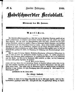 Habelschwerdter Kreisblatt vom 31.01.1844