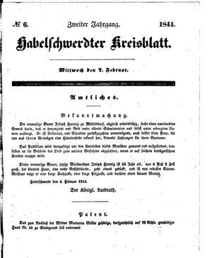 Habelschwerdter Kreisblatt vom 07.02.1844