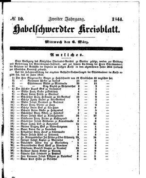 Habelschwerdter Kreisblatt vom 06.03.1844