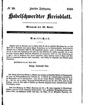 Habelschwerdter Kreisblatt vom 17.04.1844