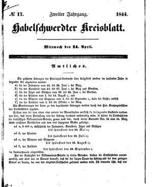 Habelschwerdter Kreisblatt vom 24.04.1844