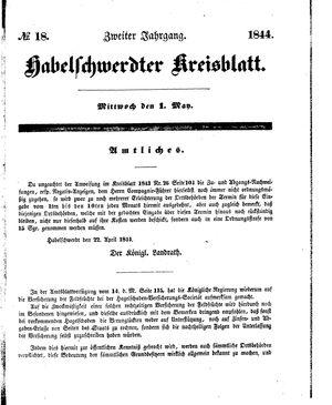 Habelschwerdter Kreisblatt vom 01.05.1844