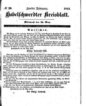 Habelschwerdter Kreisblatt vom 15.05.1844