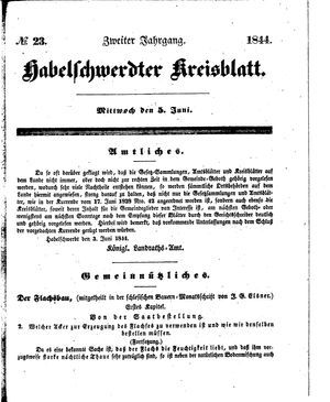 Habelschwerdter Kreisblatt vom 05.06.1844