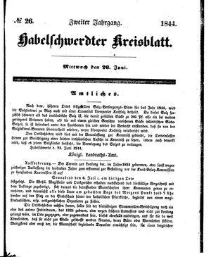 Habelschwerdter Kreisblatt vom 26.06.1844