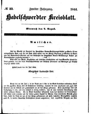 Habelschwerdter Kreisblatt vom 07.08.1844