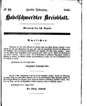 Habelschwerdter Kreisblatt vom 14.08.1844