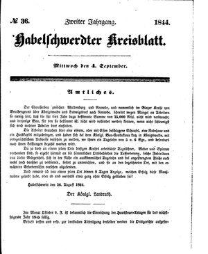 Habelschwerdter Kreisblatt vom 04.09.1844