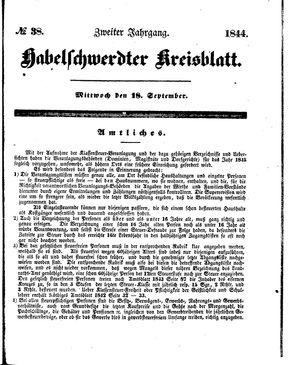 Habelschwerdter Kreisblatt vom 18.09.1844
