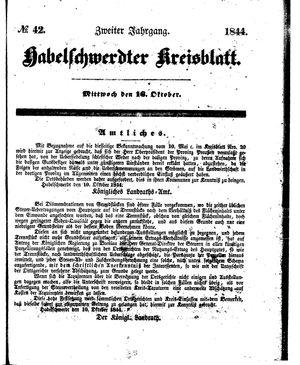 Habelschwerdter Kreisblatt vom 16.10.1844