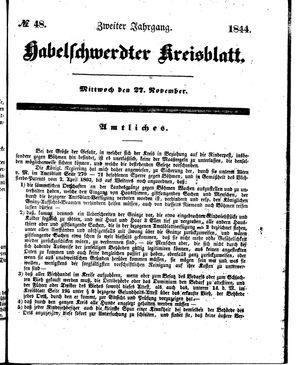 Habelschwerdter Kreisblatt vom 27.11.1844