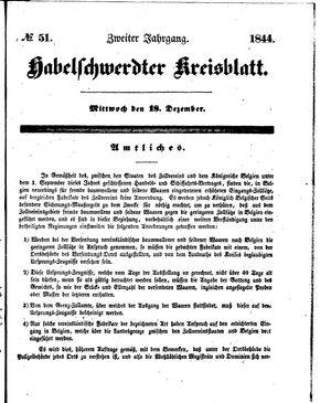 Habelschwerdter Kreisblatt on Dec 18, 1844