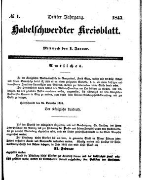 Habelschwerdter Kreisblatt on Jan 1, 1845