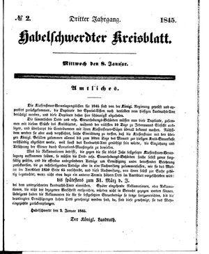 Habelschwerdter Kreisblatt on Jan 8, 1845
