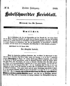 Habelschwerdter Kreisblatt vom 15.01.1845