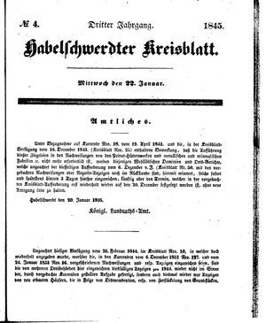 Habelschwerdter Kreisblatt on Jan 22, 1845