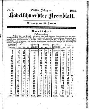 Habelschwerdter Kreisblatt vom 29.01.1845