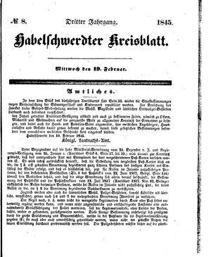 Habelschwerdter Kreisblatt vom 19.02.1845