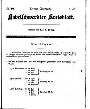 Habelschwerdter Kreisblatt vom 05.03.1845