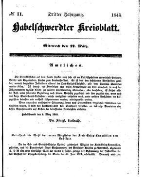 Habelschwerdter Kreisblatt vom 12.03.1845