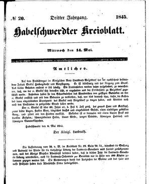 Habelschwerdter Kreisblatt on May 14, 1845