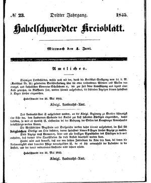 Habelschwerdter Kreisblatt vom 04.06.1845