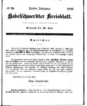 Habelschwerdter Kreisblatt on Jun 18, 1845