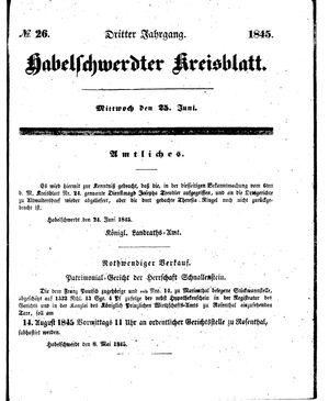 Habelschwerdter Kreisblatt vom 25.06.1845