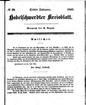 Habelschwerdter Kreisblatt vom 06.08.1845