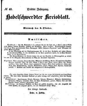 Habelschwerdter Kreisblatt vom 08.10.1845