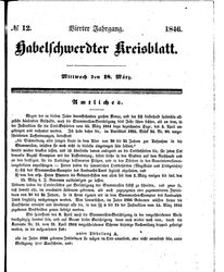 Habelschwerdter Kreisblatt (18.03.1846)
