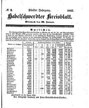 Habelschwerdter Kreisblatt vom 22.01.1847
