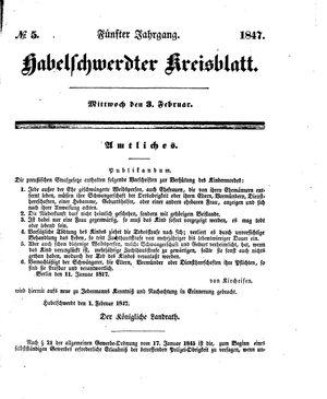 Habelschwerdter Kreisblatt vom 03.02.1847