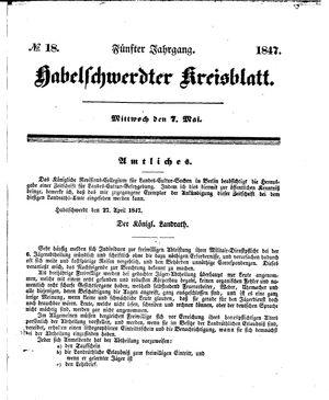 Habelschwerdter Kreisblatt vom 07.05.1847
