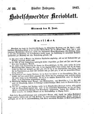 Habelschwerdter Kreisblatt vom 02.06.1847