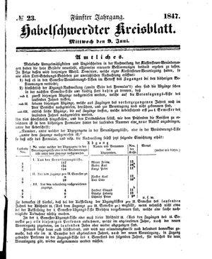 Habelschwerdter Kreisblatt vom 09.06.1847