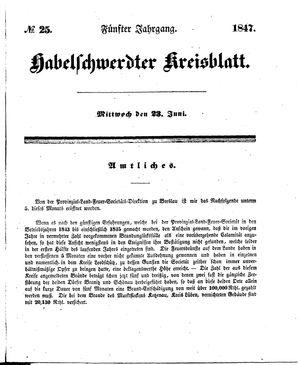 Habelschwerdter Kreisblatt vom 23.06.1847