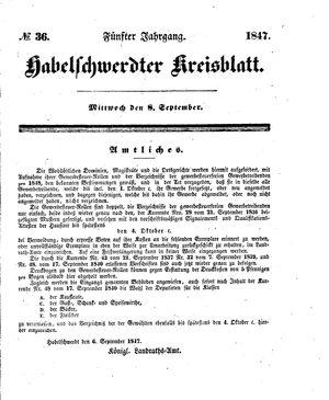 Habelschwerdter Kreisblatt vom 08.09.1847