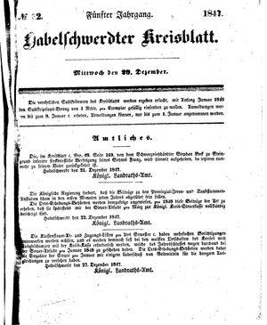 Habelschwerdter Kreisblatt vom 29.12.1847