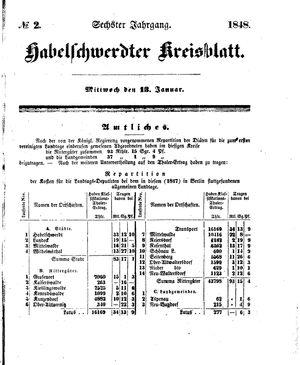 Habelschwerdter Kreisblatt on Jan 13, 1848