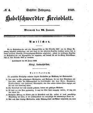 Habelschwerdter Kreisblatt vom 26.01.1848