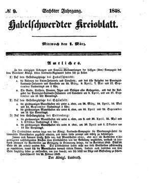 Habelschwerdter Kreisblatt vom 01.03.1848