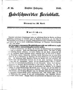 Habelschwerdter Kreisblatt vom 12.04.1848