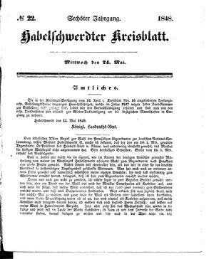 Habelschwerdter Kreisblatt vom 24.05.1848