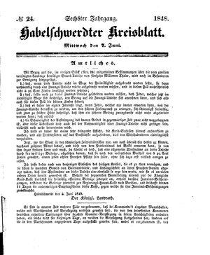 Habelschwerdter Kreisblatt vom 07.06.1848