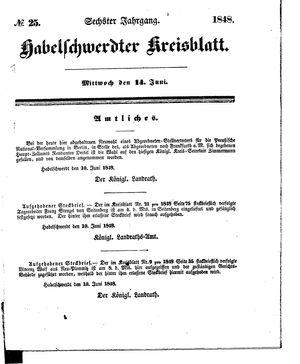 Habelschwerdter Kreisblatt vom 14.06.1848