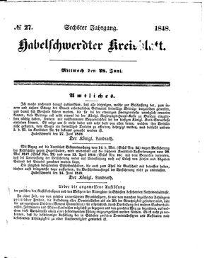Habelschwerdter Kreisblatt vom 28.06.1848
