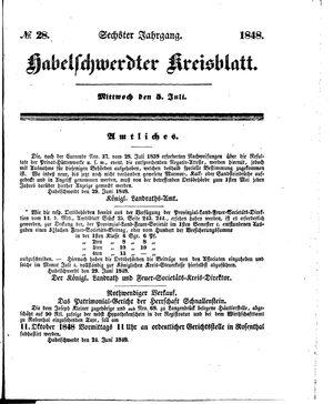 Habelschwerdter Kreisblatt vom 05.07.1848