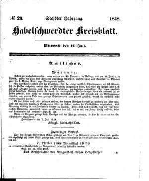 Habelschwerdter Kreisblatt vom 12.07.1848